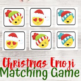 Emoji Christmas Matching Game Printable
