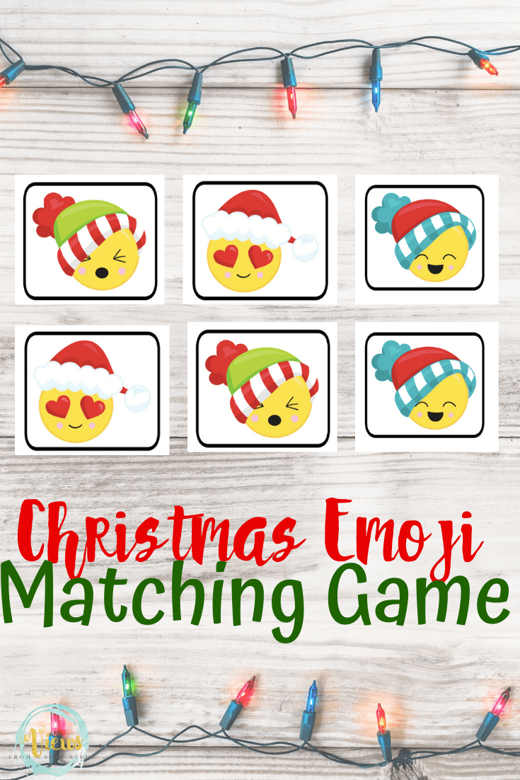 Emoji Christmas Matching Game Printable