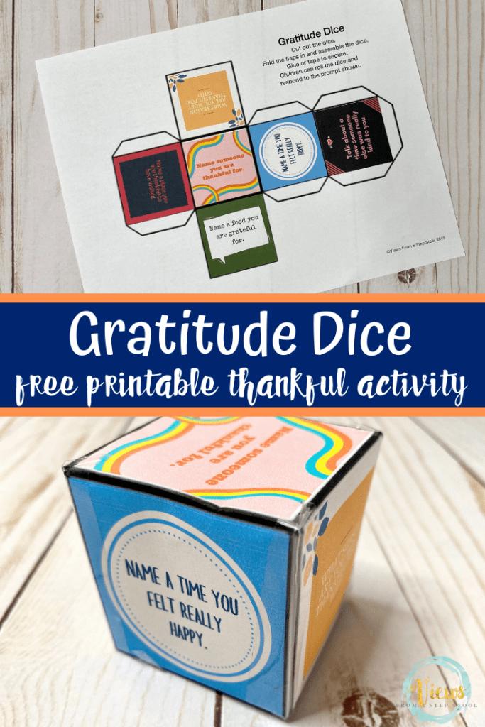 gratitude dice free printable thankful activity