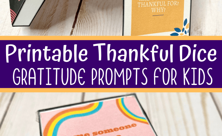 Free Printable Gratitude Dice for Families