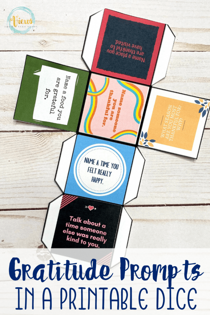 image of printable gratitude dice for families