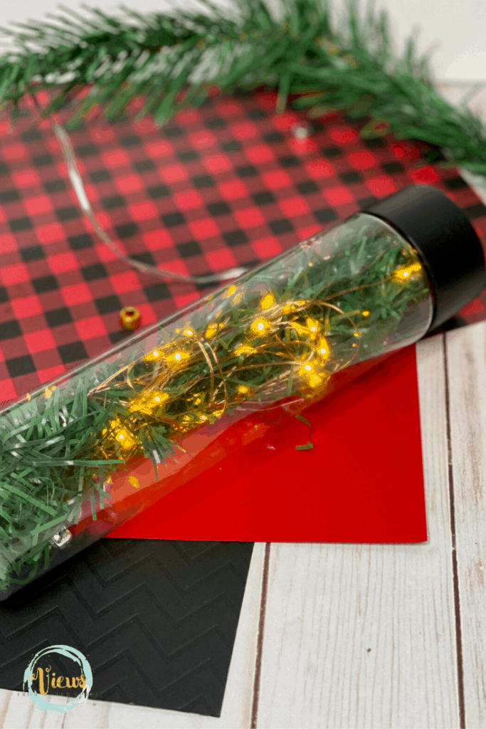 lit up christmas tree sensory bottle