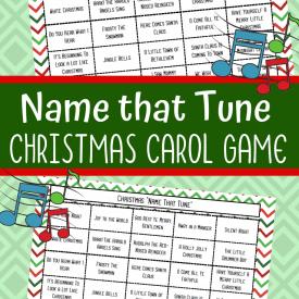 Name that Tune Christmas Carol Game Printable