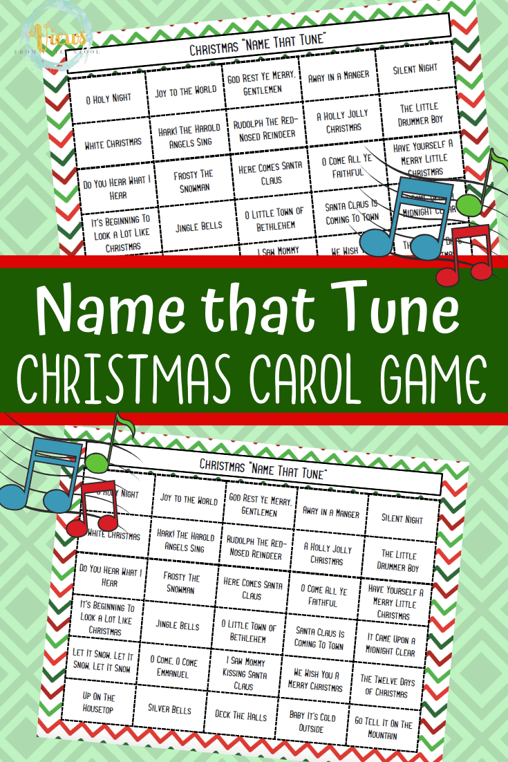 Name that Tune Christmas Carol Game Printable