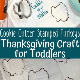 Stamped Turkey Towel: Thanksgiving Craft for 1 and 2 Year Olds