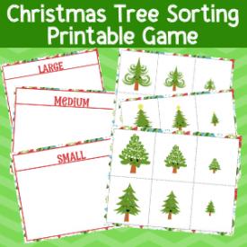 Free Printable Christmas Sorting Game: Big and Little Christmas Trees
