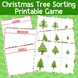 Free Printable Christmas Sorting Game: Big and Little Christmas Trees