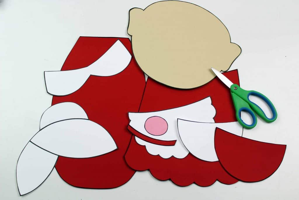 Mrs. Claus & Santa Accordion Craft with Printable Template ...