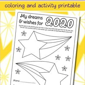New Years Resolution Coloring Page for Kids