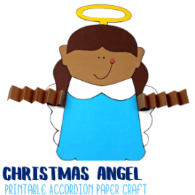 Angel Accordion Paper Craft with Printable Template