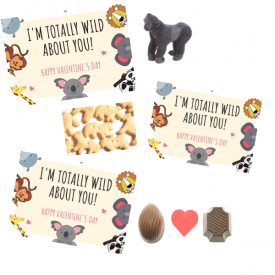 Printable Animal Valentines Day Cards for Kids