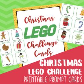 Christmas Lego Challenge Cards Free to Print