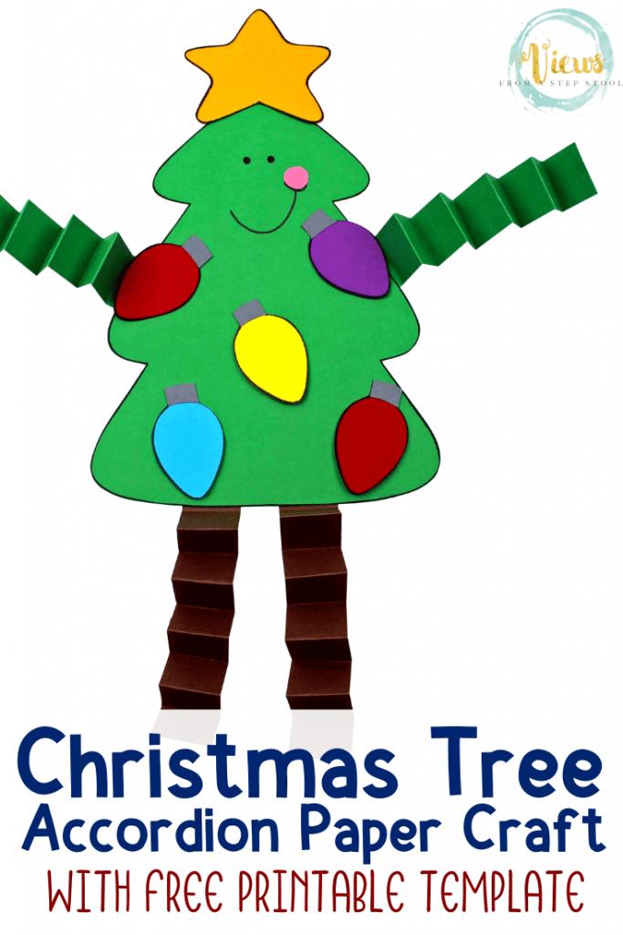 Christmas Tree Accordion Craft With Printable Template