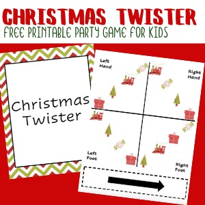 Printable Christmas Twister Party Game for Kids