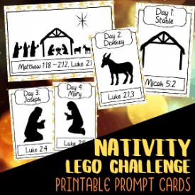 Nativity Lego Challenge Cards Printable