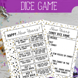 Printable New Years Dice Game for Families