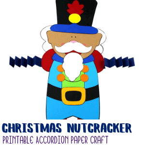 Nutcracker Accordion Craft with Printable Template