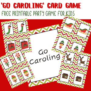'Go Caroling' Printable Christmas Card Game for Kids