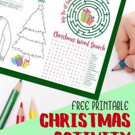 Free Printable Christmas Activity Placemat for Kids