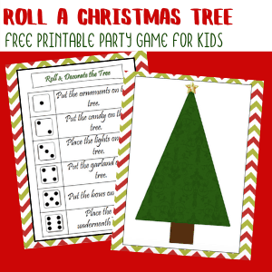 Roll a Christmas Tree Printable Game for Kids