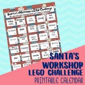Santa's Workshop Lego Challenge Cards Free to Print