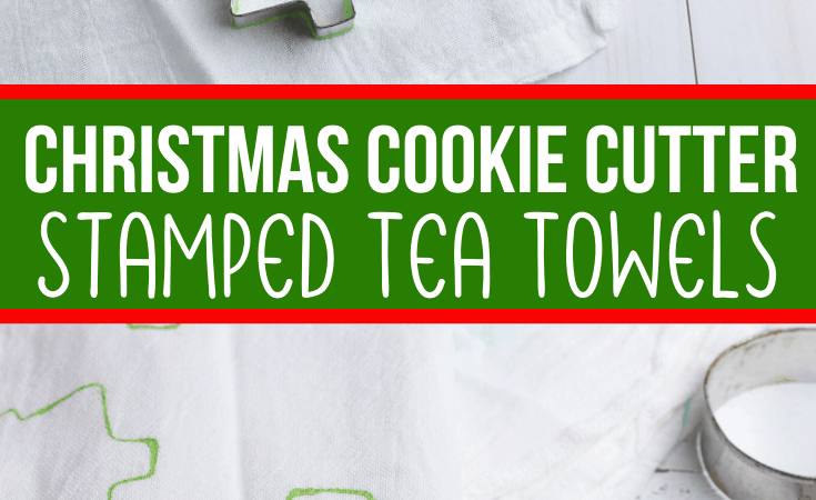 Stamped Tea Towel Christmas Craft for 1 and 2 Year Olds