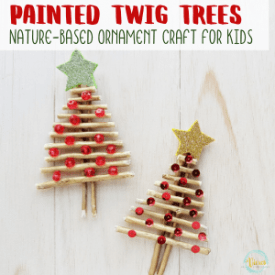 Stick Christmas Tree Ornament Craft for Kids