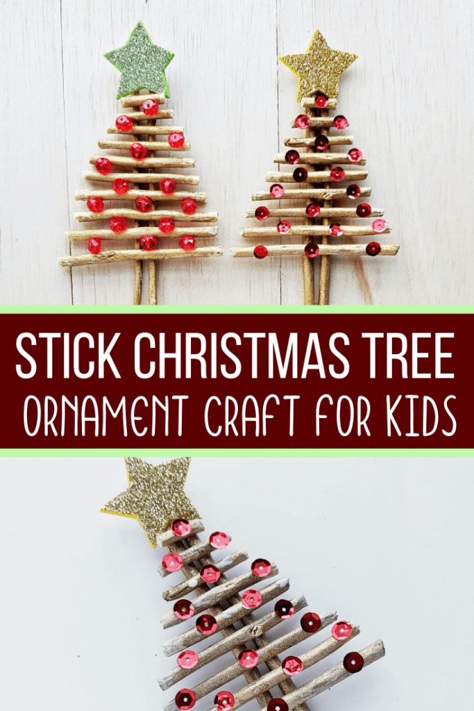 Stick Christmas Tree Ornament Craft For Kids Views From A Step Stool