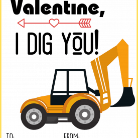 Construction Valentine's Day Cards