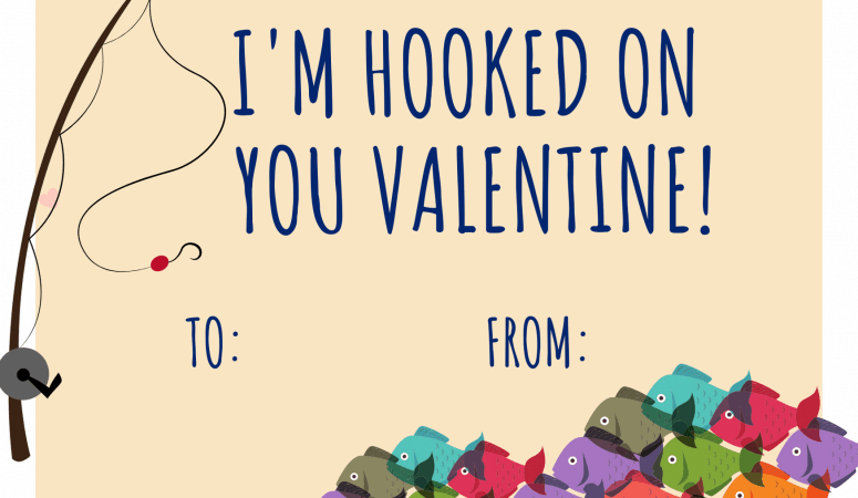 Fishing Valentines Day Cards