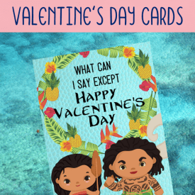 Moana Valentine Cards Free to Print