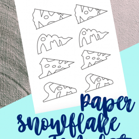 Paper Snowflake Craft for Kids