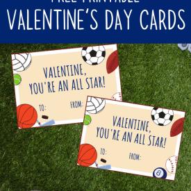 Printable Sports Valentine Cards