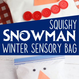 Snowman Winter Sensory Bag for Babies and Toddlers