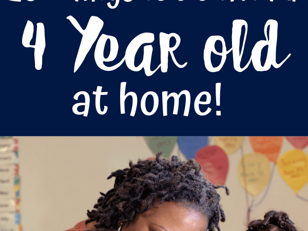 Activities for 4 Year Olds to do at Home