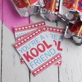Kool Aid Valentines with Free Printable