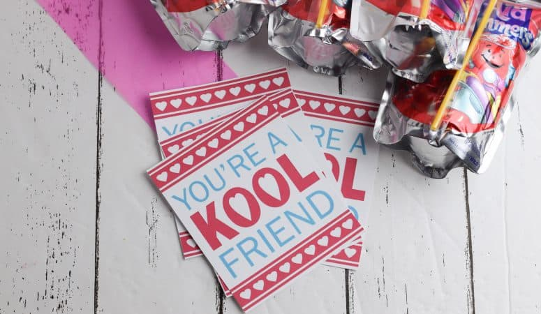 Kool Aid Valentines with Free Printable