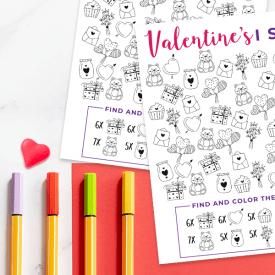 Valentine I Spy Printable for Kids