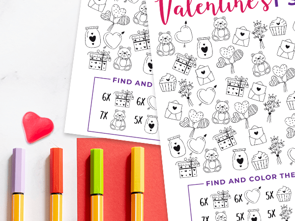 Valentine I Spy Printable for Kids