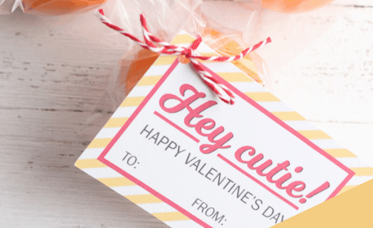 Cutie Valentines for Kids with Free Printable