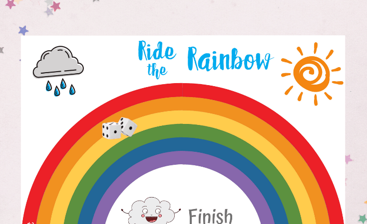 Ride the Rainbow Board Game Printable
