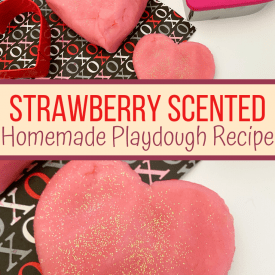 Creamy Strawberry Playdough Recipe that Smells Great