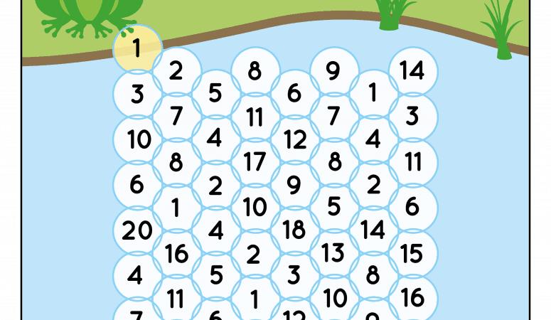Frog Hop Number Maze Printables