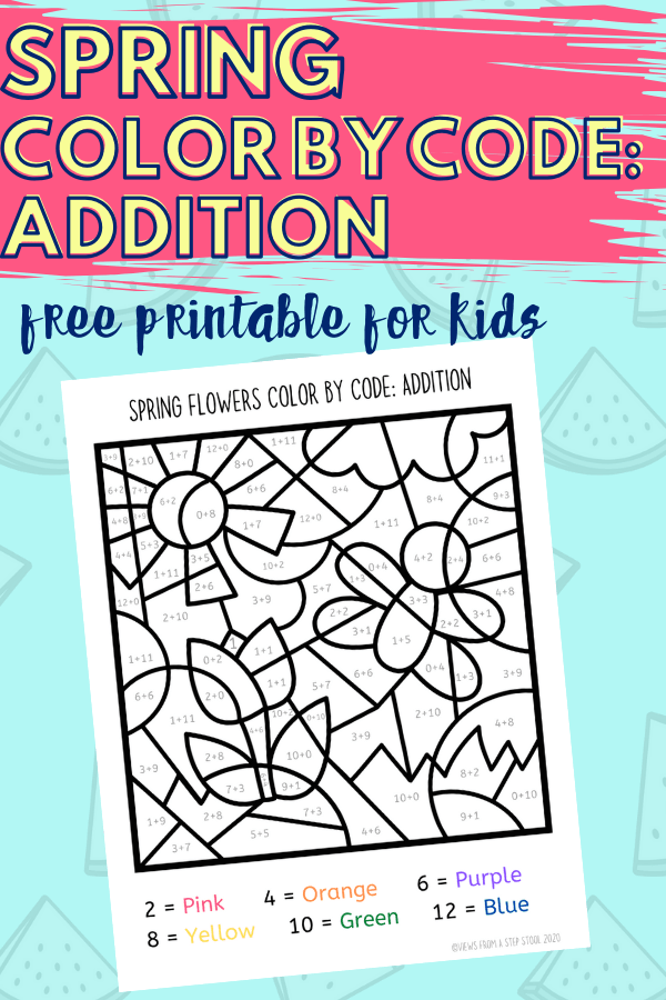 Color by Number Spring Printable for Kids - Views From a ...