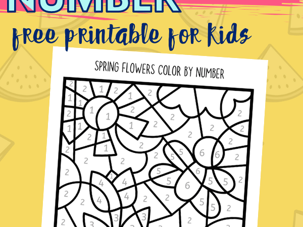 Color by Number Spring Printable for Kids