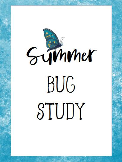 Printable Bug Study Journal
