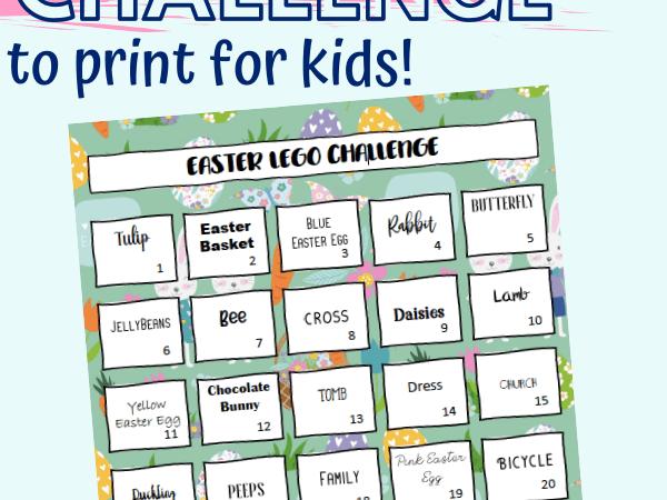 Easter Lego Challenge Printable for Kids