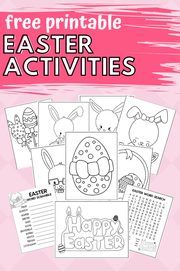 This is a photo of Printable Easter Activities pertaining to spring