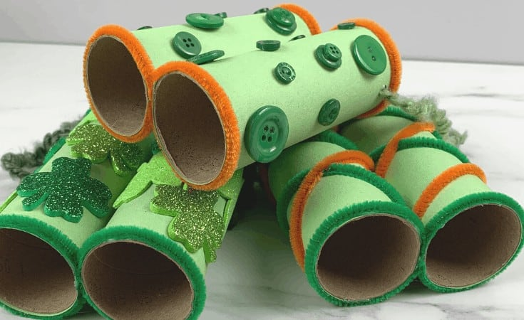 Leprechaun Binoculars Craft for Kids