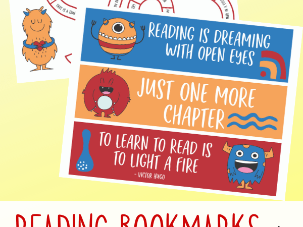Reading Bookmarks Printable + Reading Challenge Game for Kids